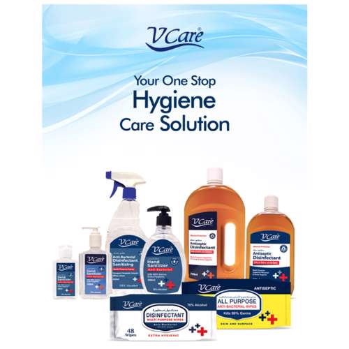 V Care All Purpose Anti- Bacterial Wipes 96's