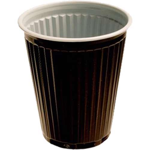 MPC Plastic PP Cup Brown & White 2oz - 70Dia. -  2000pcs