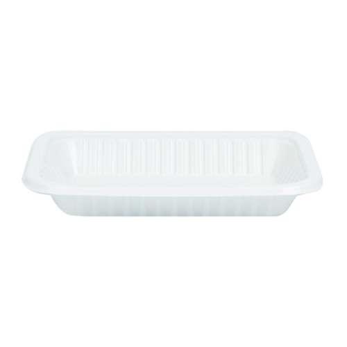 MPC Plastic PP Rectangular Tray White V1 - 9kg - 750 pcs