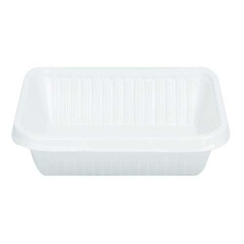 MPC Plastic PP Rectangular Tray White V2- 500pcs