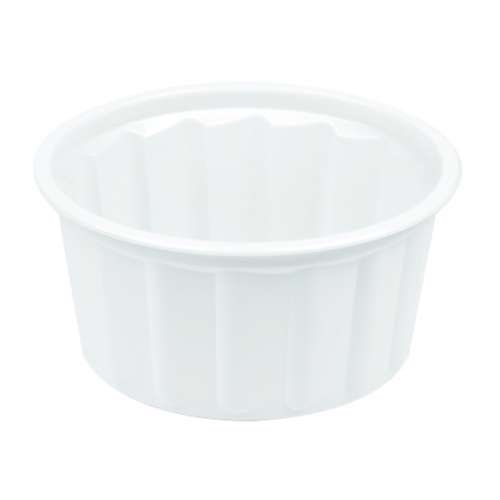 MPC PP Ribbed White Round Container With Lid 350ml-114Dia.- 1500pcs