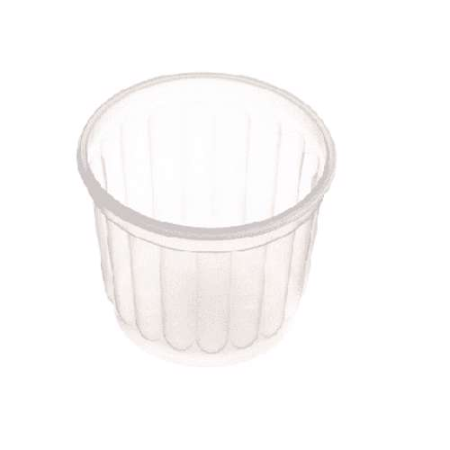 MPC PC Ribbed Clear Round Container With Lid 500ml- 116Dia.- 500pcs