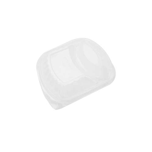 MPC PP Black Base Container Clear Lid Only- 2 Compartment- 250pcs
