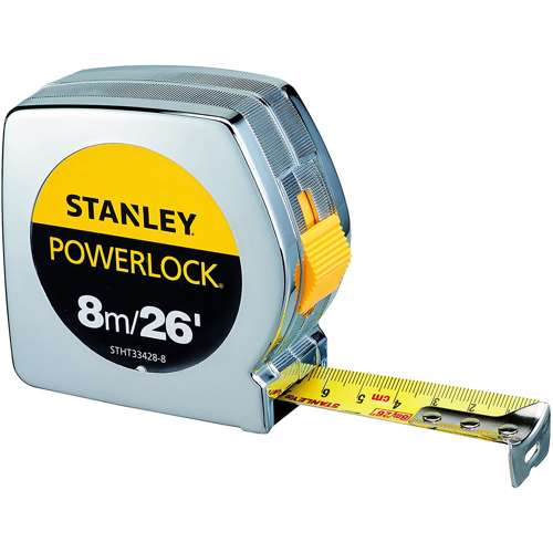 Stanley STHT33428-8 Power Lock M.Tape 8M/Ex25mm Metric-Imperial