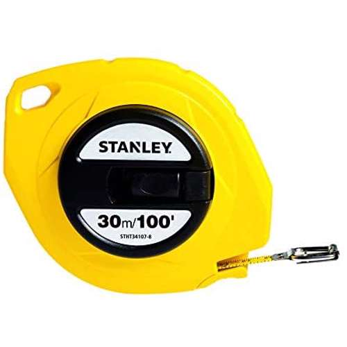 Stanley STHT34107-8 Closed Case Steel Blade M.Tape 30M/Ex10mm Metric-Imperial