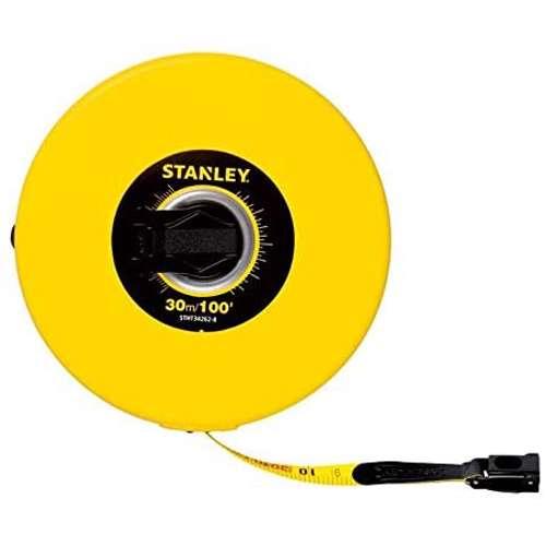 Stanley STHT34262-8 Closed Case Fiberglass M.Tape 30M/Ex10mm Metric-Imperial