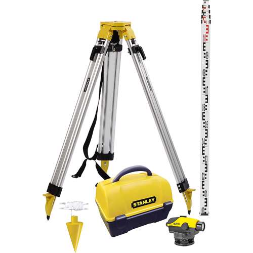 Stanley 1-77-160 Al24 Auto Level With Tripod, Measuring Rod 5M,Plum Bob And Hard Carry Case