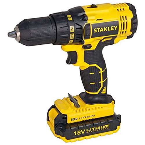 Stanley SCD20S2K-B5 18V, 1.5Ah Li-Ion Drill Driver With 2 Batteries
