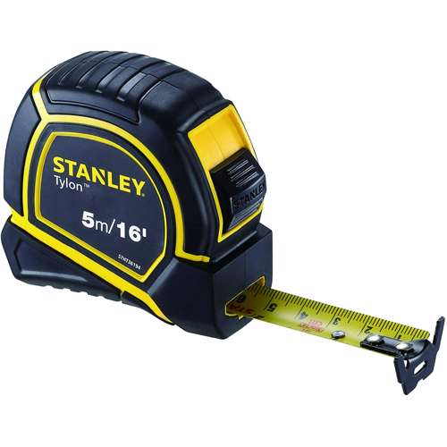 Stanley STHT36194 Tylon M. Tape 5M/Ex19mm Metric-Imperial