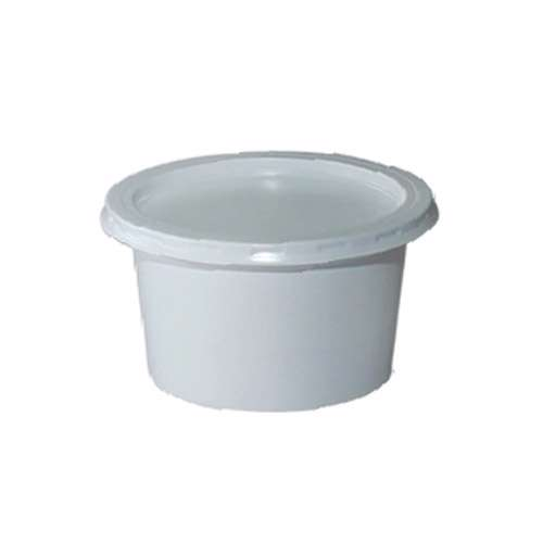MPC PS Plain White Container With White Lid 100ml-73Dia. - 1500pcs
