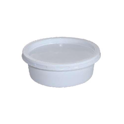 MPC PS Plain White Round Container With White 200ml-116Dia.- 1500pcs