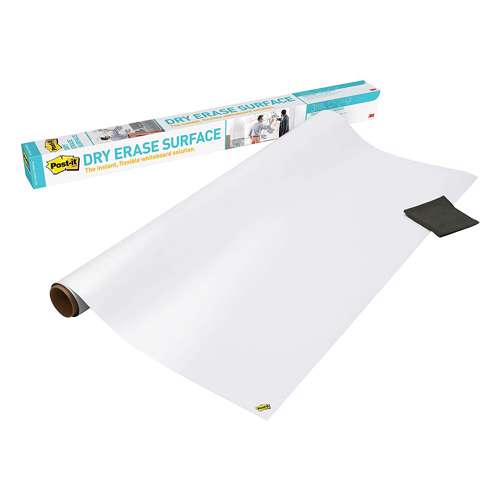 3M Post-It Dry Erase Surface 180x120 White - DEF6x4