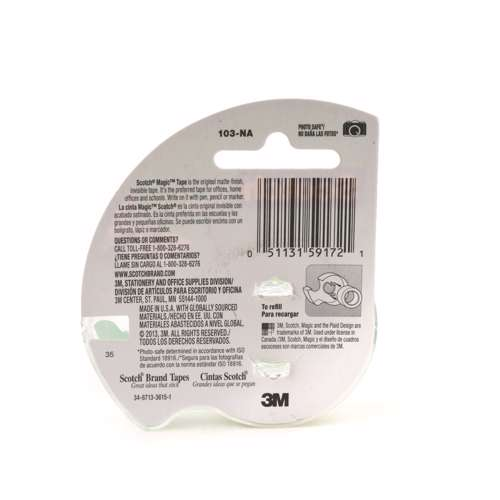 3M 103Na Magic Tape With Plastic Dispenser