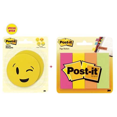 3M Emoji Sticker With 4 Color Page Marker