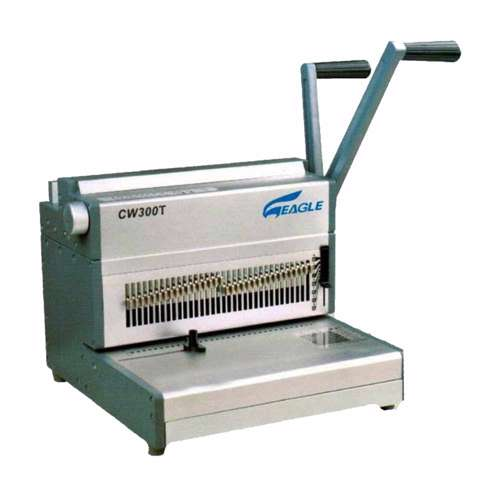 Eagle 2:1 Wire Binding Machine CW300T (Wire -Manual-21Pin) - Grey/Silver