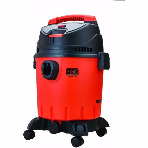 Black+Decker 1400W 20L Wet and Dry Tank Drum Vacuum Cleaner, Orange/Black - WDBD20-B5