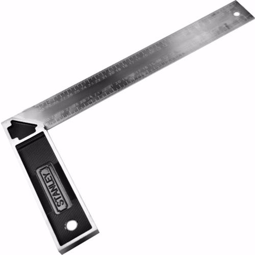 Stanley Try Square Zinc Handle, 12 Inch, 46536
