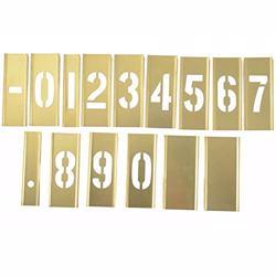 """Hanson 10006 Stencil 1/2"""" Number 15Pcs Set"""