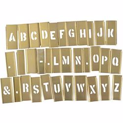Hanson Stencil 1/2 33 Peices Letter Set [10026]