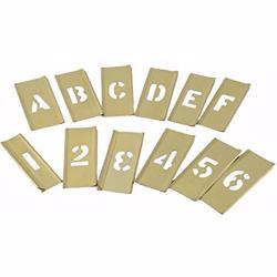 """Hanson Stencil 6"""""""" 77 Peices Number & Letter Set [10116]"""