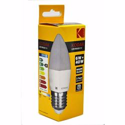 Kodak Led Bulb Candle C37 E27 6W - Warm Glow