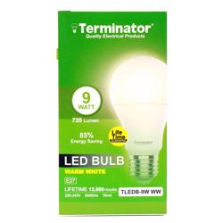 Terminator LED Bulb 9W Warm White E27
