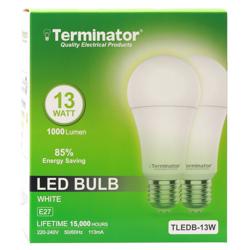 Terminator LED Bulb 13W Day Light E27 2 Pcs