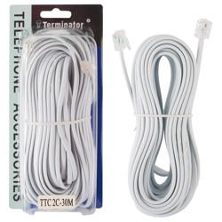 Terminator Telephone Extension Cord 2C 30M UK/US Type