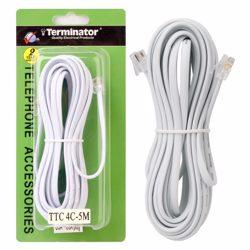 Terminator Telephone Extension Cord 4C 5M USA /USA Type