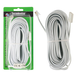 Terminator Telephone Extension Cord 4C 15M USA /USA Type