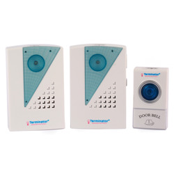 Terminator Door Bell Digital Wireless With 38 Different Melodies + 1 Transmitter and 2 Receiver DC