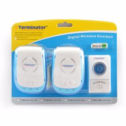 Terminator Door Bell Digital Wireless With 38 Different Melodies + 1 Transmitter and 2 Receiver 3 Pin Flat 13A