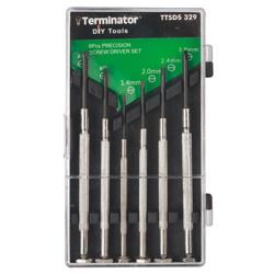 Terminator Mini Screw Driver 6 Pcs Precision Set With Iron Handle