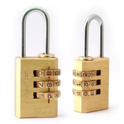 Terminator Brass Combination Pad Lock (20mm)