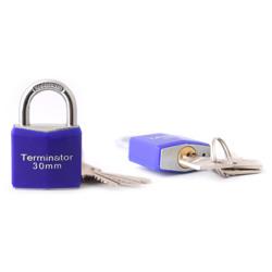 Terminator Pad Lock (30mm) (Blue)