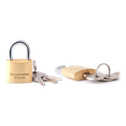Terminator Brass Pad Lock (25mm) Replacement Of TPL 7725
