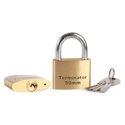 Terminator Brass Pad Lock (50mm)