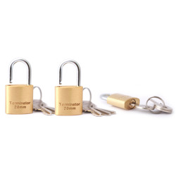 Terminator Brass Pad Locks Set 3 1