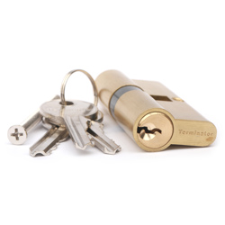 Terminator Cylinder Door Lock with 3keys (35X35X35SB)