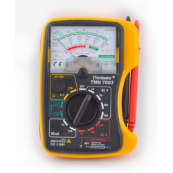 Terminator Multi Meter Analogue 500V AC/DC DC Current Resistance Decibel 4 to 56dB & Battery Test 1.5V 9V