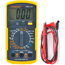 Terminator Multi Meter Digital Safety Function AC/DC V DC Current Resistance Continuity Diode Test & hFE Test