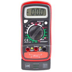 Terminator Multi Meter Digital USB&RJ Cable Test Function AC/DC Volt DC Current Transistor Test Resistance