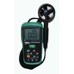 Terminator Thermo Anemometer Air Velocity With Wide Temperature Range Type K Sensor For Temperature Measurement