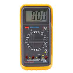 Mastech Digital Multimeter (Resistance Transistor hFE Diode Continuity Buzzer and Data Hold)