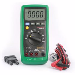Mastech Multi Meter Digital 4000Count Resistance Capacitance Diode Test Buzzer Temp Data Hold Auto Power Off