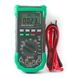 Mastech 5in1 Auto Ranging Digital Multimeter Voltage Amp dB %RH Temp Hz Ohms Lux Environmental Tester