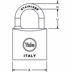 Yale 114 Marine Padlock 30 mm preview