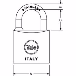 Yale 114 Marine Padlock 40 mm preview
