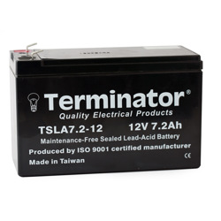 Terminator SLA Battery 12V-7.2 Ah (Taiwan)