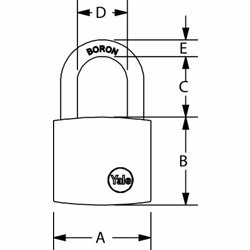 Yale Y120 Security Padlock 40 mm preview